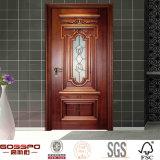 목욕탕 삽입 주문 강화 유리 단단한 나무 문 (GSP3-002)