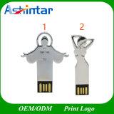 Azionamento trasversale dell'istantaneo del USB di Pendrive di memoria del USB 2.0 del Jesus del bastone del USB del metallo