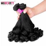 ミンクの毛の編むバージンのRemy 100%のインドの人間の毛髪