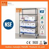 820 lbs NSF padrão comercial BSCI 6 Camadas Prateleira Metálica cromado