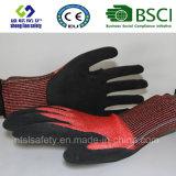 Отрежьте упорную перчатку &#160 работы безопасности; с пеной Latex Coated  Перчатки безопасности