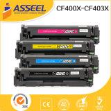 Compatible cartucho de tóner CF400A / Serie CF400X para HP Color LaserJet Pro M252dw / M252n / MFP / M277dw / M277n