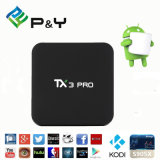 Films gratuits Télévision par câble Top Box 4k Smart avec Tx3 PRO 1g 8g Quad Core Android 6.0 TV Box