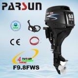F9.8FWS, 9.8HP дистанционное управление, электрический старт, короткий двигатель вала 4-Stroke Parsun внешний