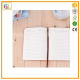 Cuaderno duro de cuero de la cubierta de la PU con la marca de libro