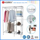 Hot Sale Portable Chrome Bedroom Wardrobe Rack com rodas