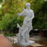 Горячий продавать мраморные статуи красивая девушка с видом на сад скульптур Deerlet оформление подарков