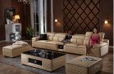 Sofá secional de couro moderno com U Shap