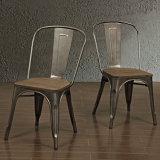 Стул Stackable промышленного шикарного обедая стула металла напольный и крытый обедая бортовой
