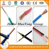 Conducteur solide de cuivre isolant en PVC coloré sur le fil électrique de 1,5mm2 2,5 mm2 mono ou multi Core BV