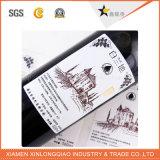 Il documento su ordinazione della birra & del vino ha stampato l'autoadesivo della bottiglia di servizio di stampa del contrassegno