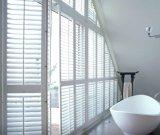 2017 fácil instalar los obturadores por encargo interiores de madera de la ventana de la plantación de la visión clara