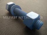 Boulon de goujon d'ASTM A193 B7m avec l'enduit de teflon hexagonal lourd de noix d'A194 2h