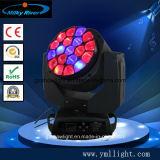 Aumentar o zoom 19PCS Fase Discoteca Abelha LED luz de movimentação dos olhos, 19X15W Bee Eye Cabeça Móvel LED de luz B Eye