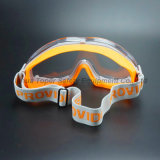 Lentille antibrouillard avec les lunettes de sûreté en caoutchouc molles de bâti (SG147)