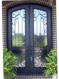 Kundenspezifischer neuer Entwurfs-Sicherheits-Eisen-Eintrag-doppelte Tür für Haus