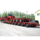 반 다중 차축 무거운 장비 수송 탱크 트레일러