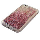iPhoneのための液体のきらめきの星の流砂の携帯電話の箱
