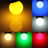 Bulbos energy-saving do diodo emissor de luz da lâmpada leve colorida de E27 3W