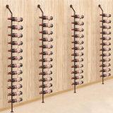União de ferro forjado Vinho de parede Racks de garrafas de vinho em Rack