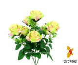Flor artificial/plástica/de seda Rose Bush (2707002)