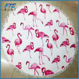 Flamingo Round Blanket Sun Shawl Beach Towel for Swimming Sunbath