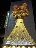 L'arbre de Noël de lumière de motif de DEL allume la décoration de vacances