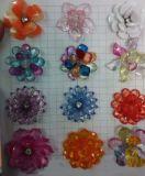 La moda al por mayor de flores hechas a mano de acrílico Multicolor artesanía decorativa DIY