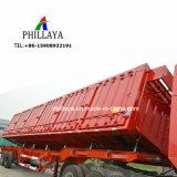 옆 로더 건설물자 수송을%s 유압 덤프 트럭 트레일러