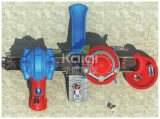 Kaiqi Roboter-Serien-Kind-im Freien Plastikspielplatz-Gerät mit aufregenden Aktivitäten der Plättchen und des Bergsteigers