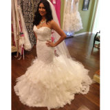 Sweetheart Bridal Ball Gown Lace Tulle Custom Made Wedding Dresses W20177