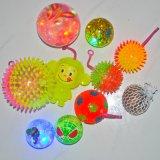 1 docena de LED enciende para arriba bolas animosas del brillo con las cartas, el confeti y el interruptor intermitente coloridos del LED (el favor de partido)