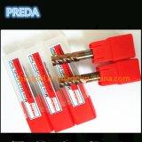 Tisin Coated 4 flautas Bits para aleación de titanio