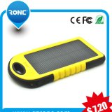 Carregador solar recarregável portátil com o banco da potência 5000mAh