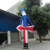 Casal Airdancer com Blower para publicidade