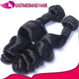 A onda 100% frouxa do cabelo do Virgin empacota a trama brasileira do cabelo