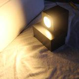 Lampe de mur en aluminium d'intérieur de chevet pour la lampe de projet d'hôtel