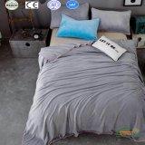 Серый цвет полиэстер короткое замыкание флис одеялом крышку 4 ПК на базе набора
