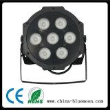 Luz lisa da lavagem da PARIDADE do diodo emissor de luz da luz 4in1 7X10W RGBW do estágio de Guangzhou