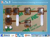 Teclado de membrana de dome Dimpled Metal de 10 mm com quatro pernas