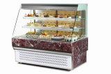 Refrigerador europeo del refrigerador de la visualización de la torta del emparedado abierto del frente del estilo