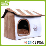 Stuffed Confortable White Color Plush Pet House (HN-pH333)