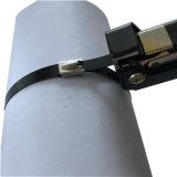 Venda a quente de plástico ajustável em aço inoxidável revestido de PVC coberto de retenção do cabo