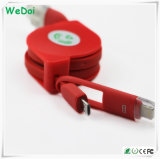 Оптовый Retractable кабель USB для iPhone & Android телефонов (WY-CA05)