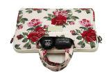 花ポリエステルラップトップ・コンピュータのブリーフケースのタブレットのノートの袖袋