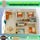 Casa modular prefabricada prefabricada de acero del hogar del chalet de la luz fácil de la construcción