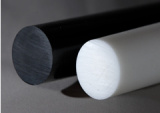 Virgen 100% POM Rod, Delrin Rod con el color blanco, negro