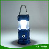 Lanterna solare ricaricabile di campeggio solare pieghevole dell'indicatore luminoso Emergency della torcia con la funzione d'uscita del USB
