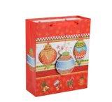 Custom новый стиль рождественских подарков мешок, творческий дар бумаги пакет с шелковые ленты ручки