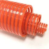 유연한 PVC 나선 산업 농업을%s 물결 모양 진공 흡입 물 호스